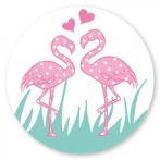 Sluitsticker flamingo stelletje